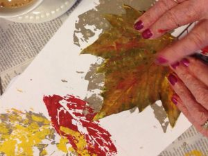 Colour me Purple art project leaf painting