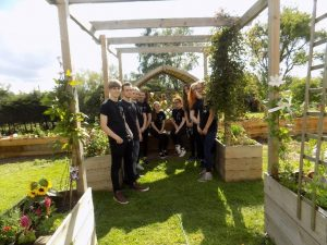 community volunteer team for the serenity garden project