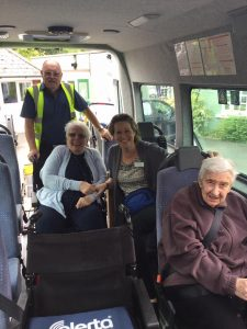 day trips out with Dial a Ride photo in the minibus