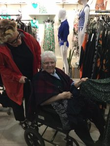 day trips -  resident shopping with her daughter in M&S
