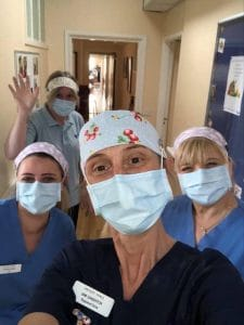 Nurse and carer team in PPE Astley Hall
