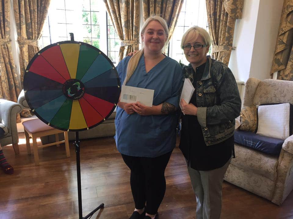 awarding achievements - Hayley wheel of fortune