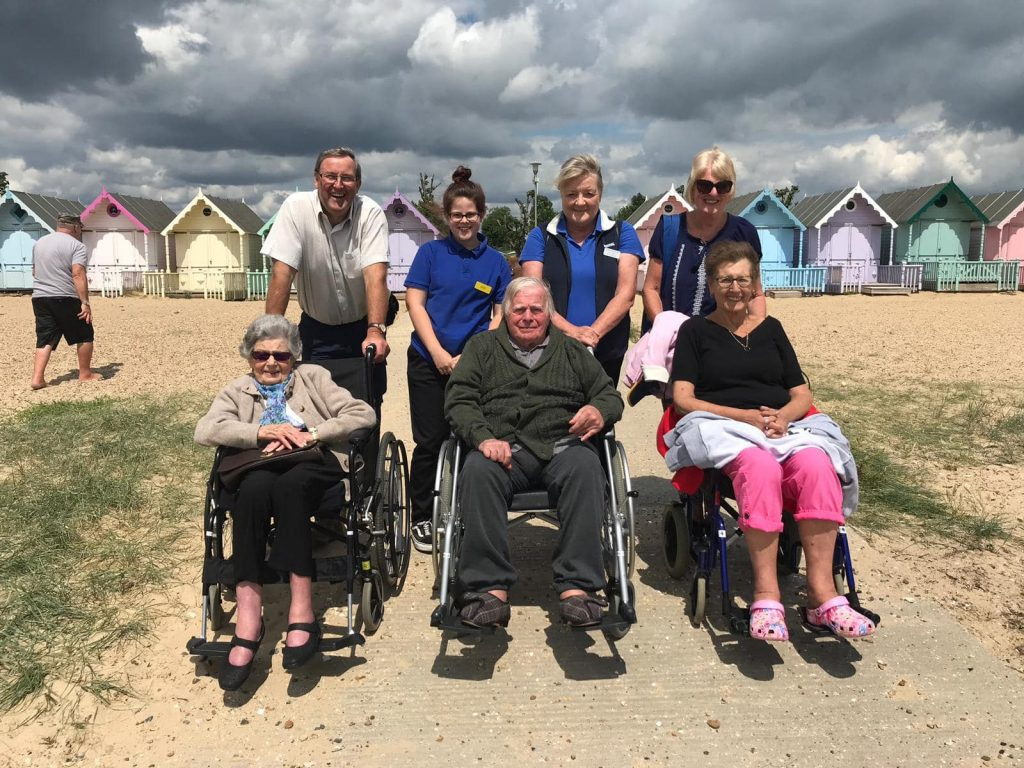 Out and about to Mersea Island residents and beach huts