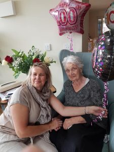 Eleanor celebrating her 100th birthday