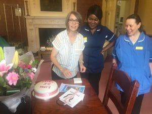 Kaern Rayner celebrating her 25 years