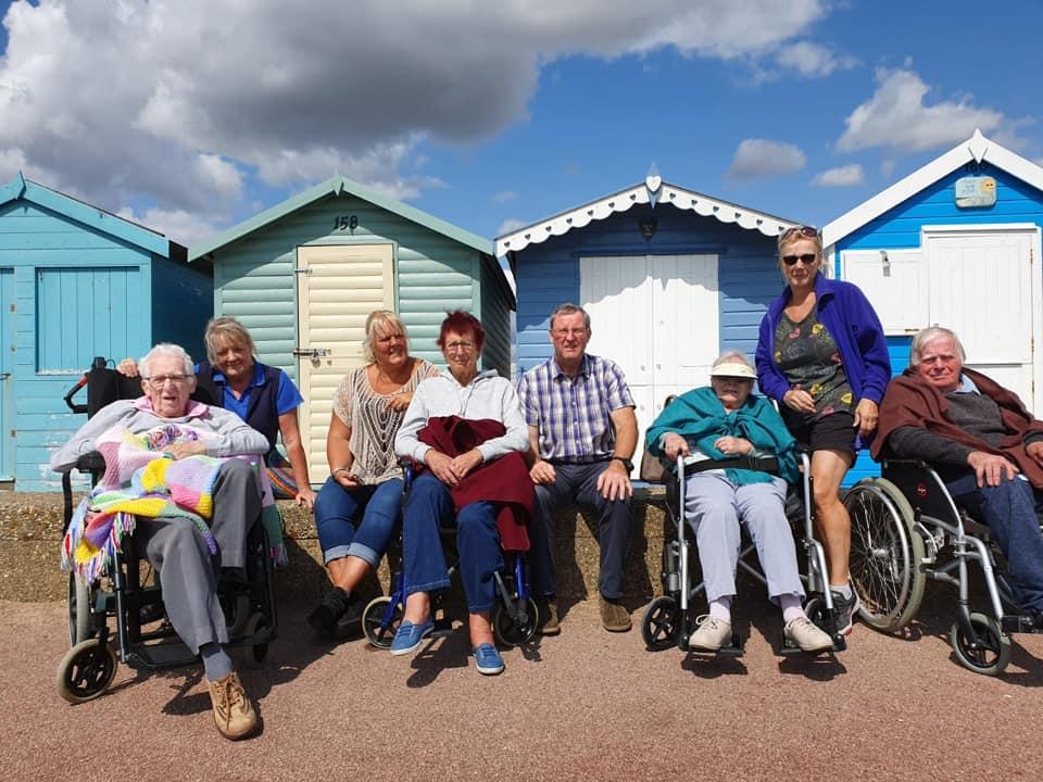 Brightlingsea beachhuts and residents