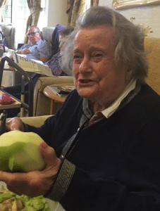 resident peeling apples - apple month- snapshot of a week