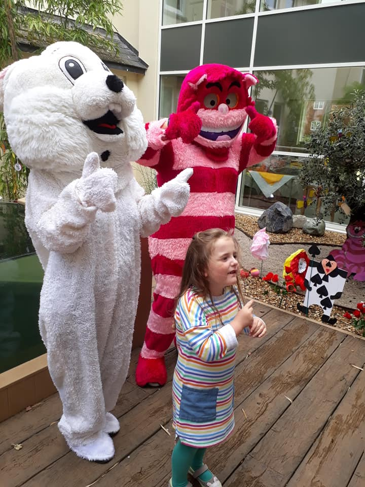 Mad Hatters Day The Cheshire Cat and White Rabbit