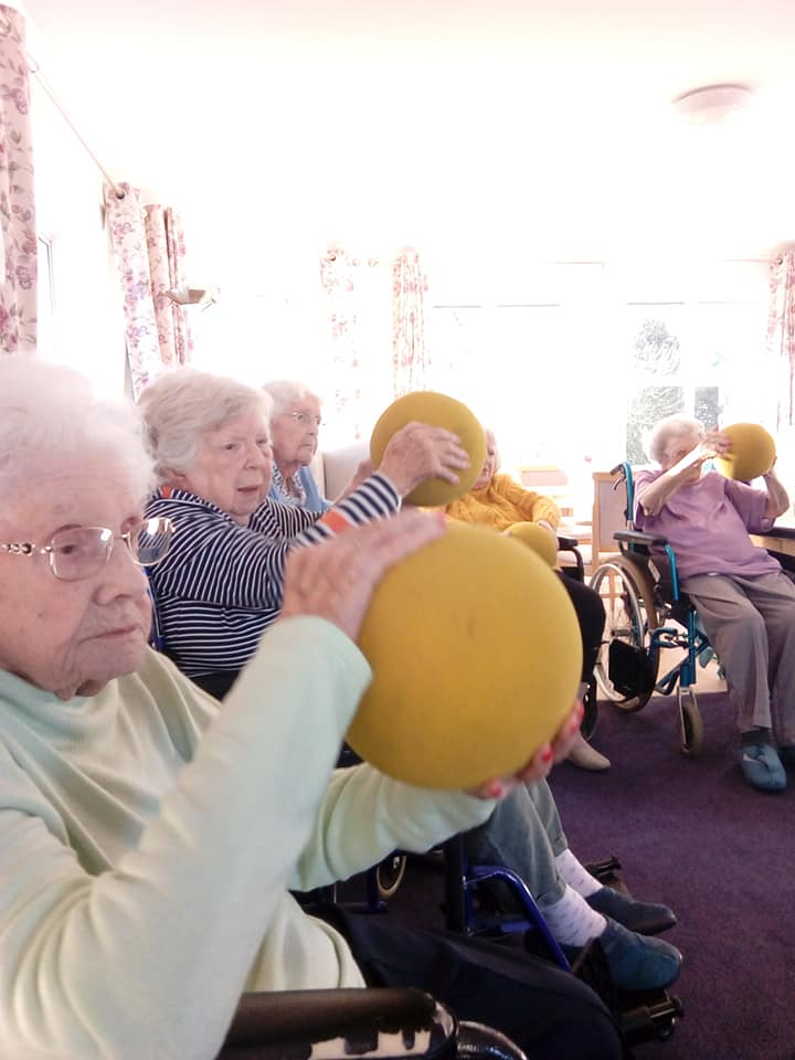 exercise class Newstead with large balls