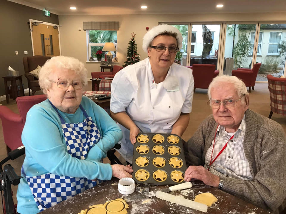 residents and chef baking - home making