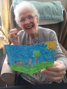 resident with childs picture