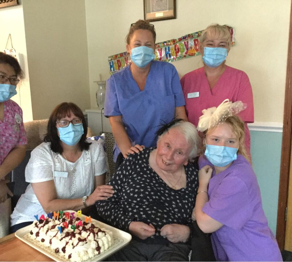 Downton Abbey birthday - residents well-being
