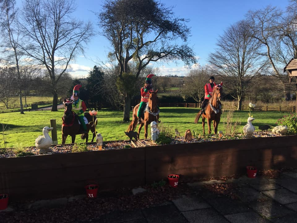 Christmas Elf horses bringing Xmas cheer