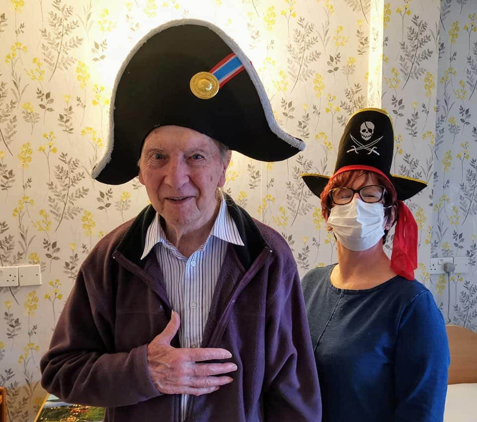 Carer and resident Hat day 2