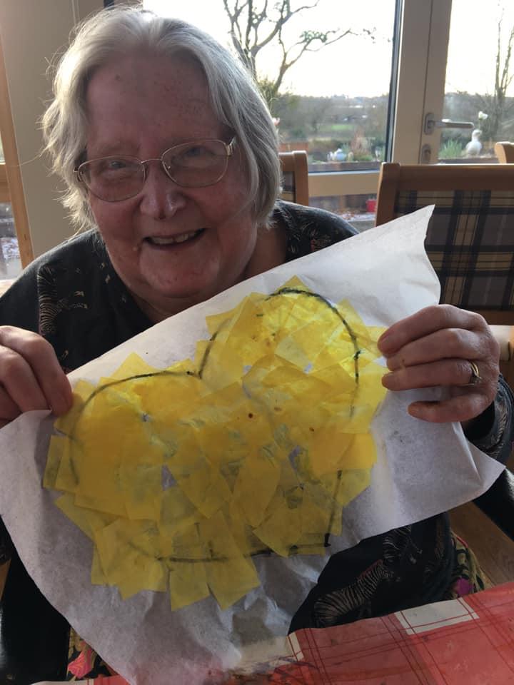 Valentines 2 - hobby craft - yellow heart