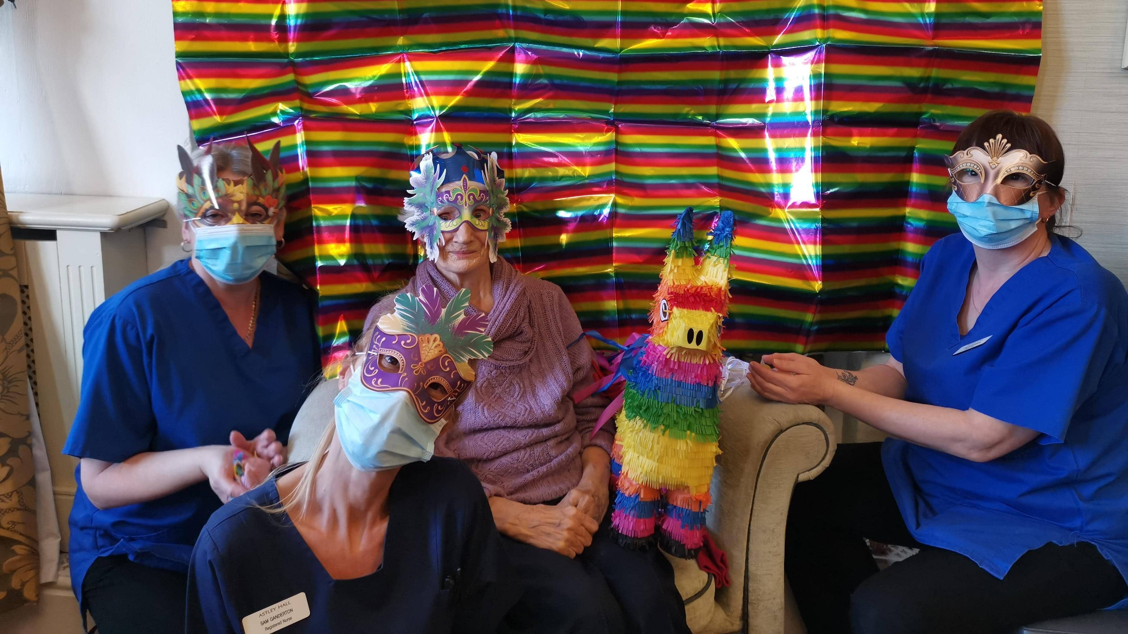 Carnival partying - resident and team
