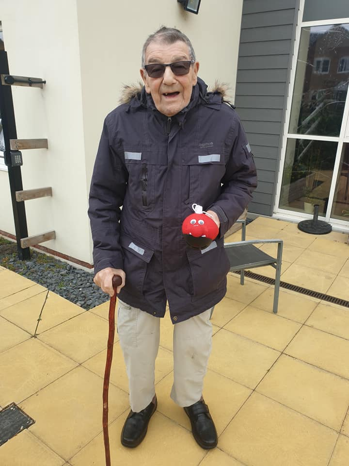 red nose relay - fundraising - gentleman with a walking stick