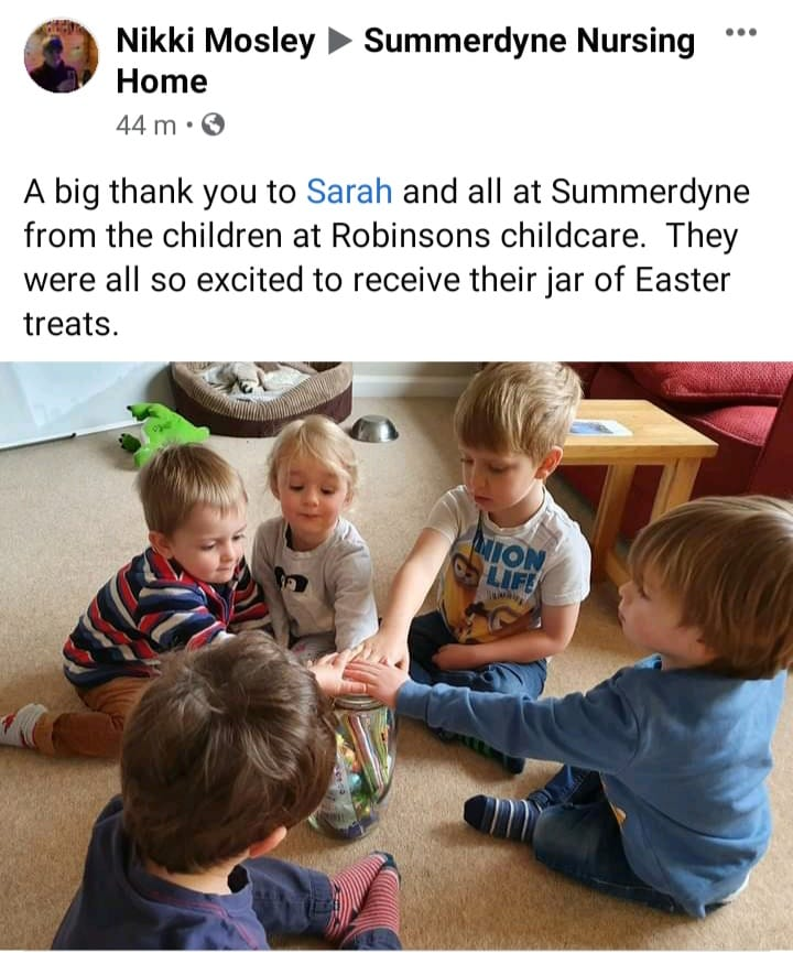 Easter thank you from Robinsons childcare
