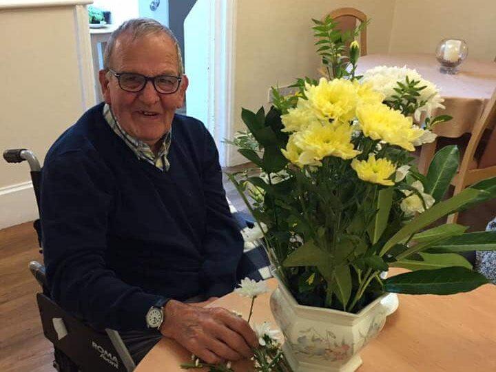 shared hobby - our floristry teacher