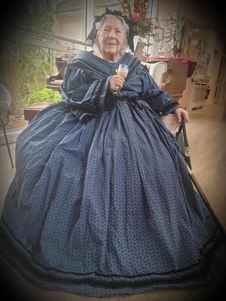 Lady resident as Queen Victoria