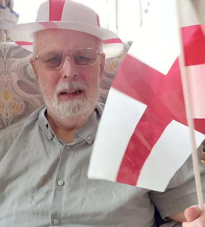 showing our support - gentleman celebrating the Euros