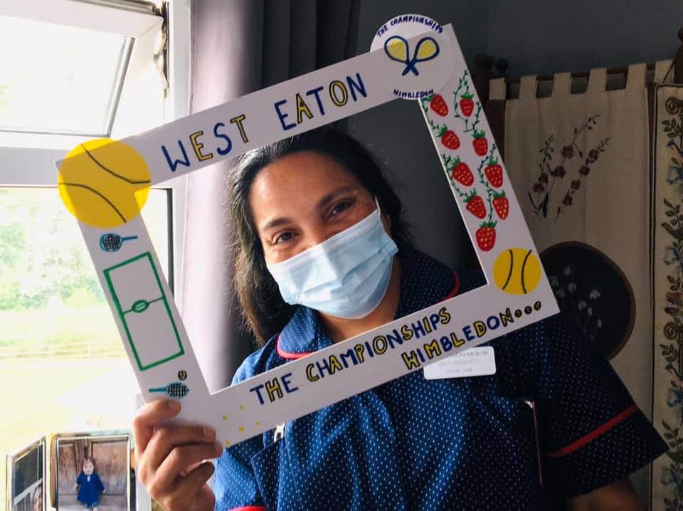 Nurse with Wimbledon picture window
