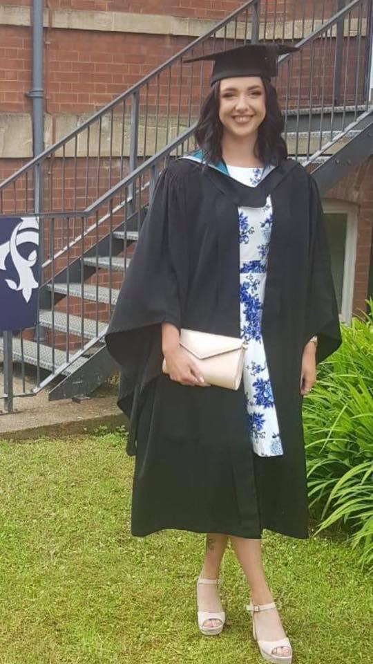 Maddison at Astley graduating
