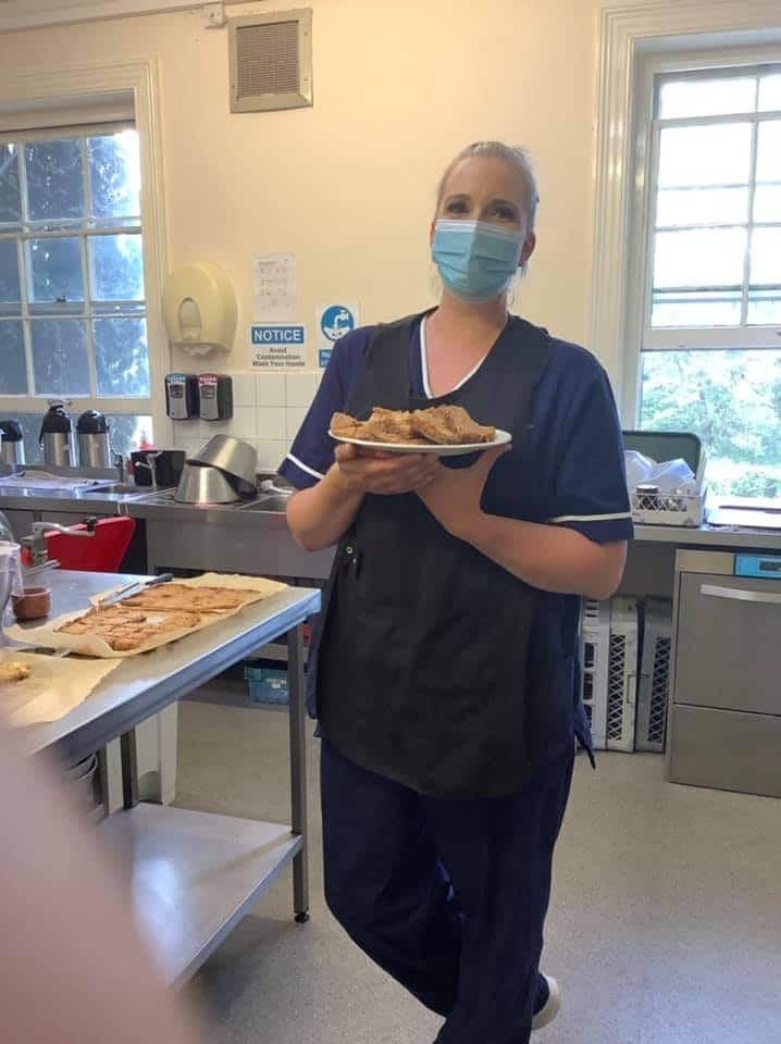 carer with diabetic cookies