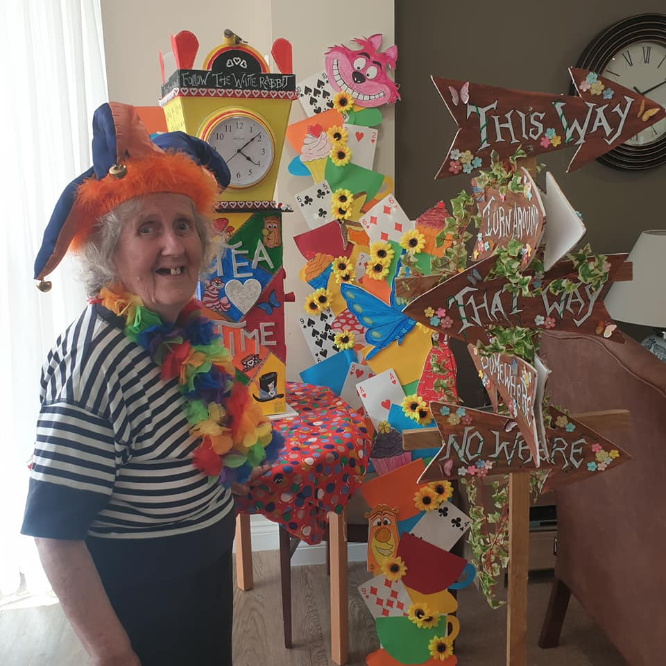 Community event - Mad Hatters party - lady with jester hat